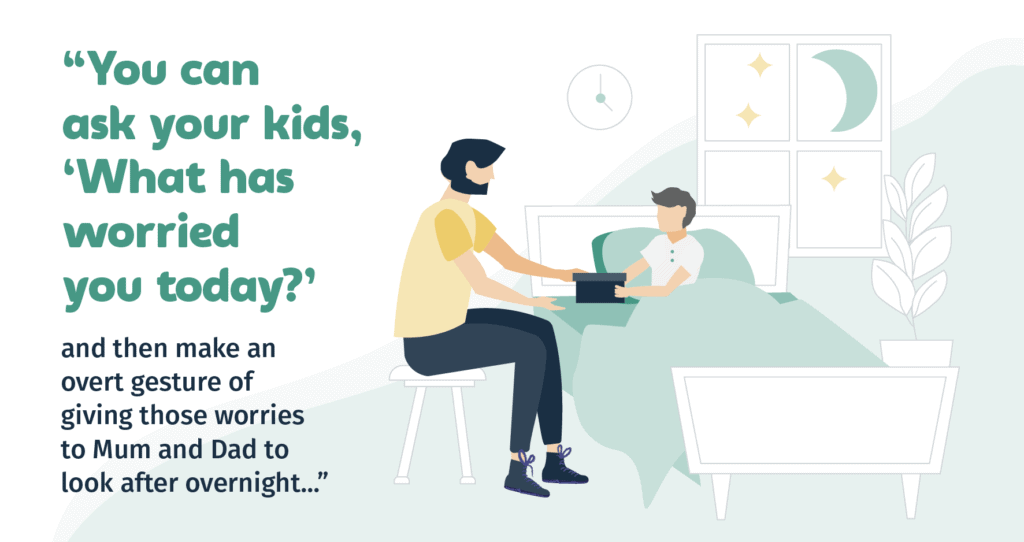 Asking your kids about their worries helps them to sleep