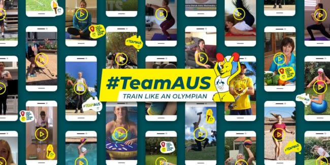 TeamAus graphic, Australian Olympic Committee
