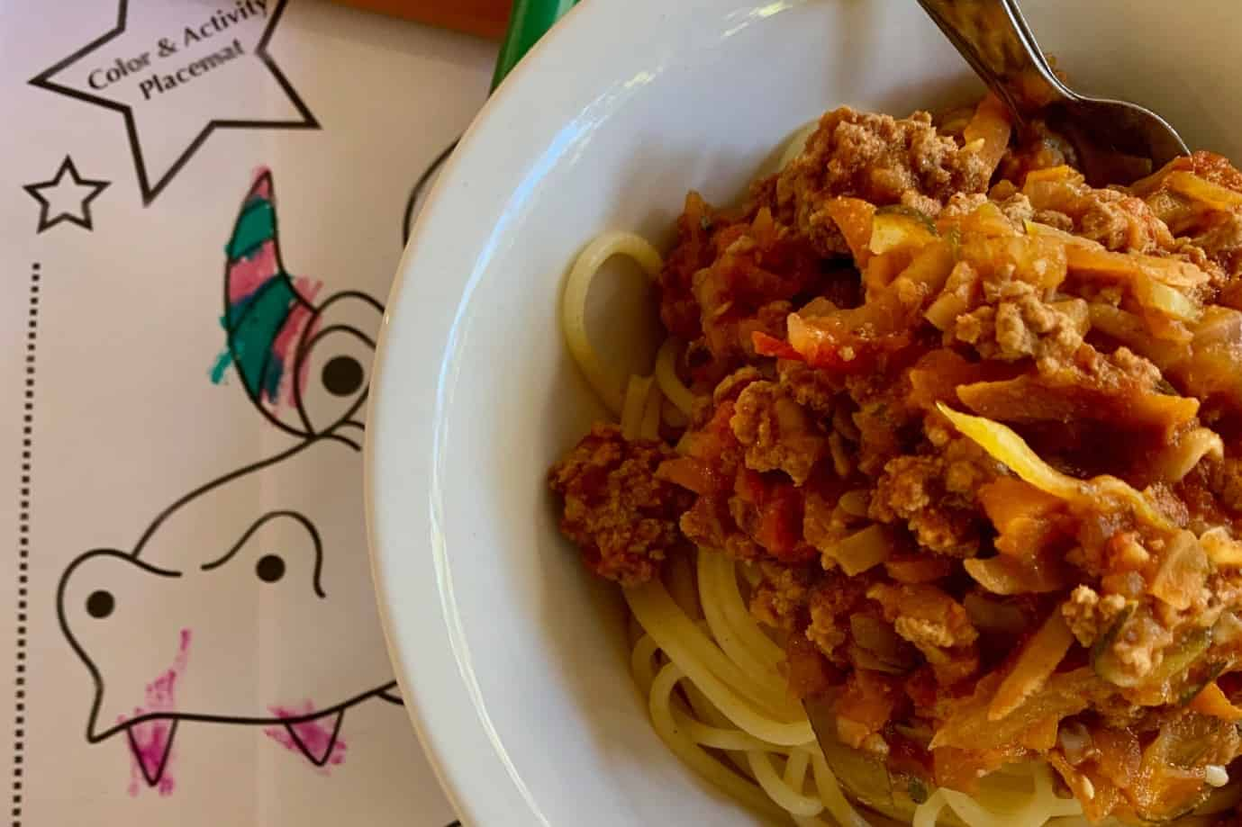 'Fully Loaded' (with veggies) Spaghetti Bolognese